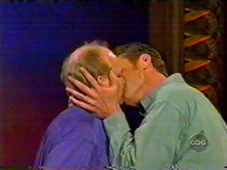 Col and Ry kissing